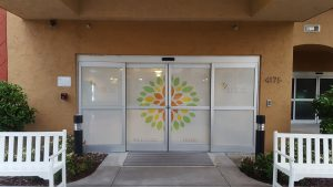 Perforated Door Vinyl